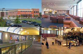 Four photos of Training Center campus.