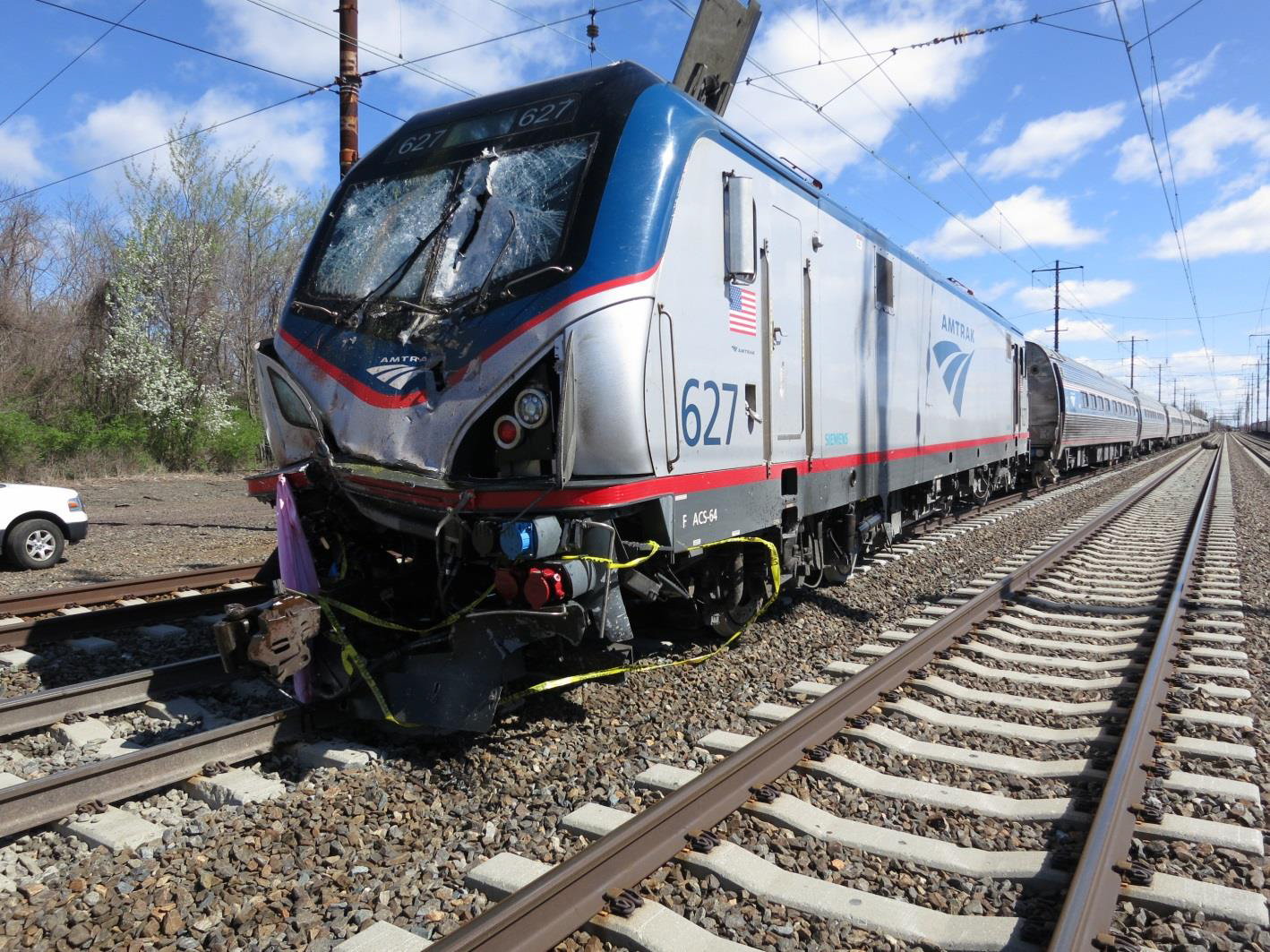 Figure 1. Damage to Amtrak passenger train 89.
