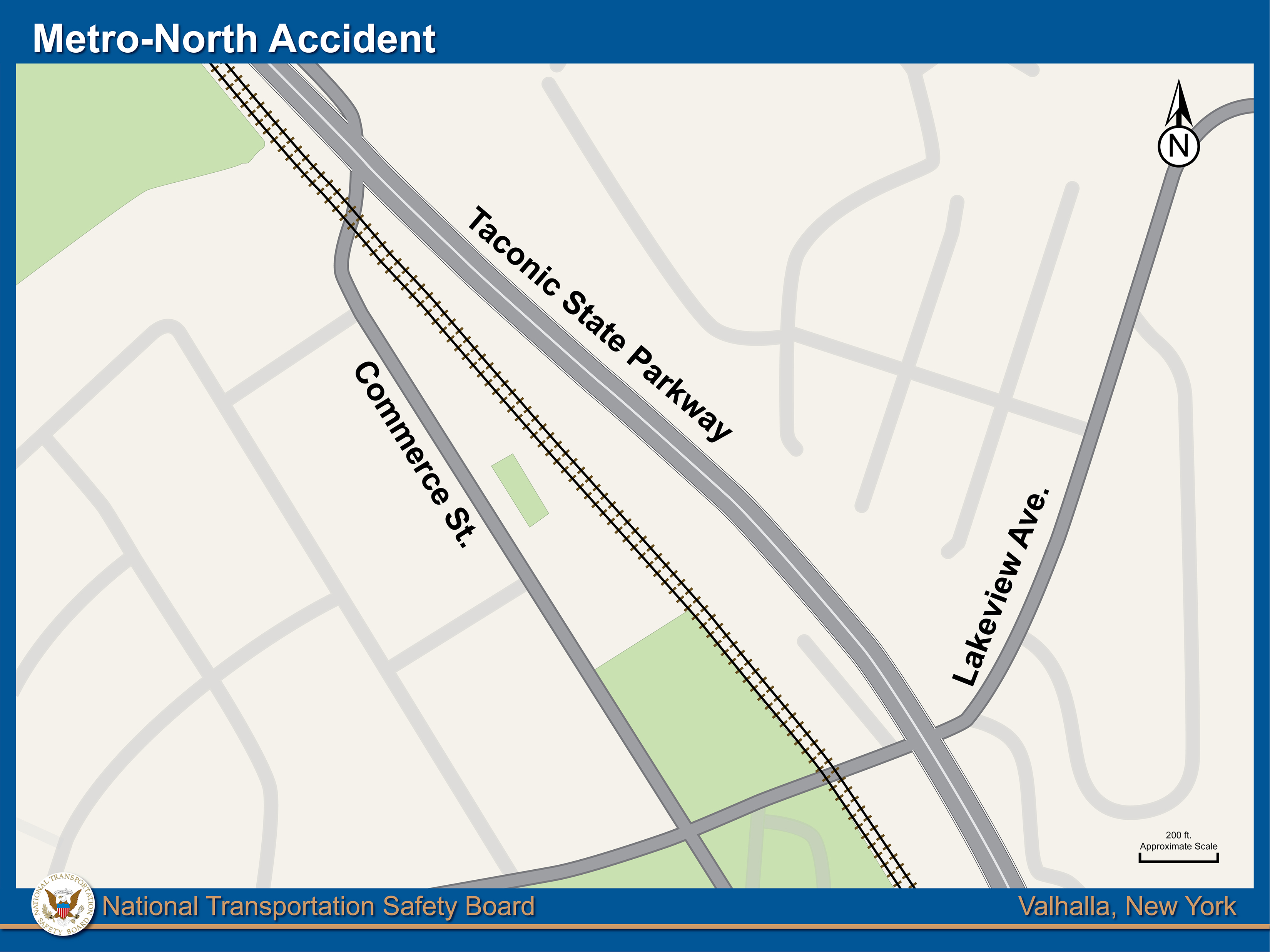 Map of accident area