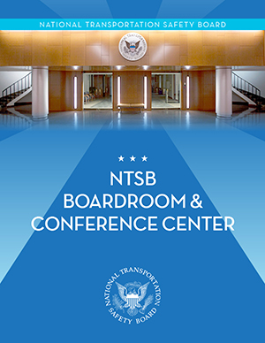 Image of NTSB Boardroom and Conference Center brochure cover.