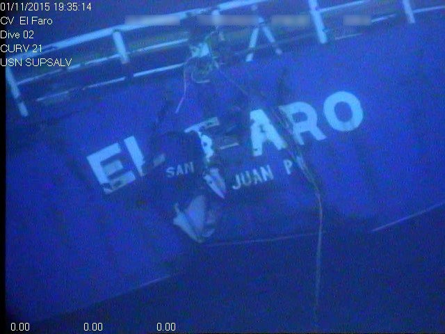 Photo of the Stern of the El Faro.